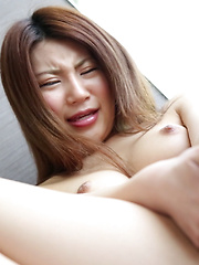 As Akane moved her pink friend from her perky tits to her pink lips, it slid around like tennis shoes on ice. Slippery, wetty, naughty Japanese girl! - Japarn porn pics at JapHole.com