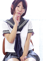 If you're like me and have a fetish for Japanese schoolgirl cosplay and wet cotton panties then you're in for a treat at CKE18. Nozomi is a hentai Japanese girl. - Japarn porn pics at JapHole.com