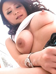 Yuu Haruka Asian with generous cans fucks nooky with vibrator - Japarn porn pics at JapHole.com