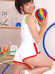 Ayana Tanigaki Asian takes clothes off while playing with balls - Japarn porn pics at JapHole.com