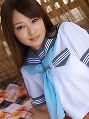 Misaki Nito Asian in sailor gal blouse shows hot butt in panty - Japarn porn pics at JapHole.com