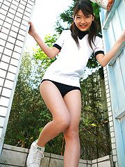 Noriko Kijima Asian in sports equipment is playful in the house - Japarn porn pics at JapHole.com