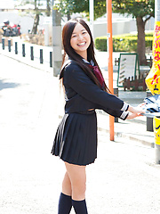 Mayumi Yamanaka Asian takes a walk in her city after classes - Japarn porn pics at JapHole.com