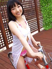 Kotone Moriyama Asian in cute lingerie loves exposing her legs - Japarn porn pics at JapHole.com