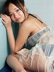 Mayumi Yamanaka Asian spoils body with shower over lingerie - Japarn porn pics at JapHole.com