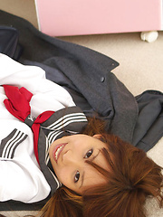 Satsuki Konichi Asian in uniform shows that she is not a good gal - Japarn porn pics at JapHole.com