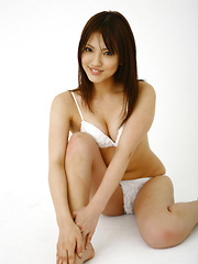 Aya Teraoka Asian has hot curves in white lingerie and pictured - Japarn porn pics at JapHole.com