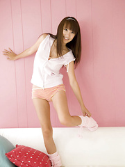 Azusa Yamamoto Asian is a very lustful chick posing so erotically - Japarn porn pics at JapHole.com