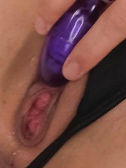 Nozomi Hatsuki Asian puts vibrator on clit and dildo in poonanie