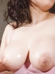 Chihiro Manaka Asian sucks boner and rubs it of her huge hooters - Japarn porn pics at JapHole.com