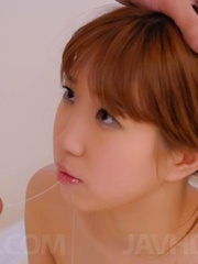 Chisato Mukai Asian gets cum on face after having peach screwed - Japarn porn pics at JapHole.com