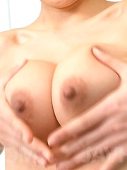 Ryuu Narushima Asian with firm cans sucks and rubs three boners - Japarn porn pics at JapHole.com