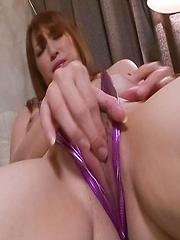 Araki Hitomi Asian fucks peach through crotchless with vibrator - Japarn porn pics at JapHole.com