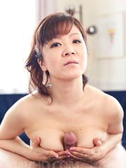 Ichika Asagiri Asian takes boner between hot boobies and sucks it - Japarn porn pics at JapHole.com