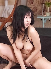 Nozomi Hatsuki Asian sucks balls and is fucked with vibrator - Japarn porn pics at JapHole.com
