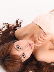 Syoko Okazaki Asian looks like a princess in her favorite dress