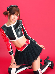 Ai Kumano Asian in latex and fluffy skirt is fresh and playful - Japarn porn pics at JapHole.com