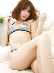 Ai Kumano Asian in bath suit finds erotic ways to show her curves