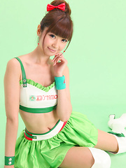 Zuo Qi Asian doll in cute outfit smiles like a true princess - Japarn porn pics at JapHole.com
