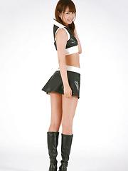 Shizuka Nakagawa Asian in boots shows nasty butt in short skirt - Japarn porn pics at JapHole.com