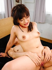Aika Hoshino Asian takes cocks in mouth and has asshole pumped - Japarn porn pics at JapHole.com