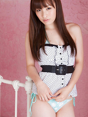 Maho Kiruma Asian in cute outfit shows hot bum in bikini on bed - Japarn porn pics at JapHole.com