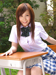 Iyo Hanaki Asian in uniform wants to take classes out of school - Japarn porn pics at JapHole.com