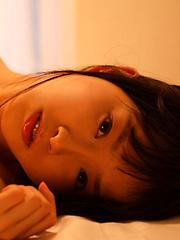 Kana Moriyama Asian takes uniform off piece by piece at window - Japarn porn pics at JapHole.com