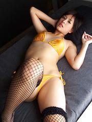 Ageha Yagyu Asian has tinny bra and bikini covering her curves - Japarn porn pics at JapHole.com