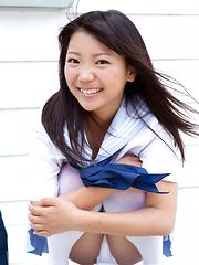 Fuuka Nishihama Asian takes school uniform off piece by piece - Japarn porn pics at JapHole.com
