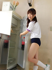 Hikari Yamaguchi Asian in shorts loves to play all over the house - Japarn porn pics at JapHole.com