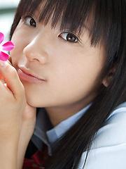 Miho Morita Asian in school uniform loves flowers and fresh air - Japarn porn pics at JapHole.com