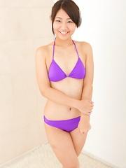 Akari Tamura posing in the pink lingerie - Japarn porn pics at JapHole.com