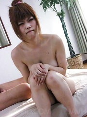 Ibuki Akitsu Asian pees after sucking and getting cock in pussy - Japarn porn pics at JapHole.com