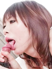 Junna Kogima with aroused snatch gets cum on boobs after blowjob - Japarn porn pics at JapHole.com