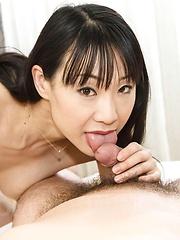 Miho Wakabayashi licks balls and dong and has crack in deep fuck - Japarn porn pics at JapHole.com