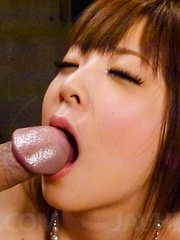 Marin Omi Asian sucks strong dong and gets it all in her beaver - Japarn porn pics at JapHole.com