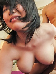 Yuuna Hoshisaki Asian has cunt in strong fuck and cum on big jugs - Japarn porn pics at JapHole.com