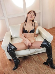 Satomi Kirihara Asian is aroused with vibrators till squirts