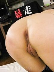 Morita Kurumi Asian has butt and vagina fucked same time by men - Japarn porn pics at JapHole.com