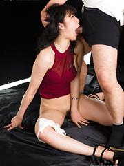 Japanese adult model Saionji Reo face fuck - Japarn porn pics at JapHole.com