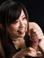 Kyouno Yui doing slowly handjob - Japarn porn pics at JapHole.com