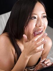 Fukatsu Miyuki makes sensual handjob - Japarn porn pics at JapHole.com