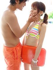 Creampie fills bound Asian teen Hikaru Aoyama - Japarn porn pics at JapHole.com
