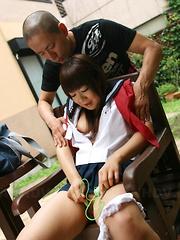 Shino Mizusawa licked and toyed outdoors - Japarn porn pics at JapHole.com