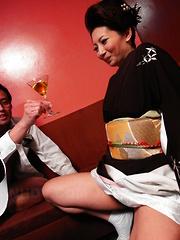 Sayuri Mikami chows down on two erect dongs - Japarn porn pics at JapHole.com
