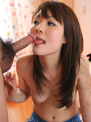 Innocent girl Fuwari sucks a delicious cock - Japarn porn pics at JapHole.com