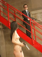 Captured Shizuka Minami spreading her legs. - Japarn porn pics at JapHole.com