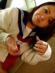 Nasty babe Rui Natsukawa gets nailed in car - Japarn porn pics at JapHole.com