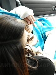 Hot arousing Yu Yamashita gives head in car - Japarn porn pics at JapHole.com